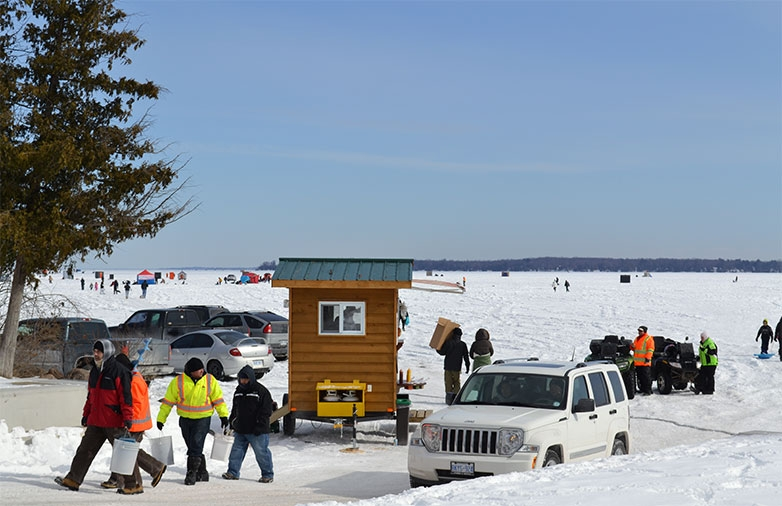 Ice Fishing Lake Simcoe